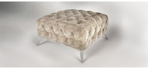 Sandringham Fabric Footstool Cream
