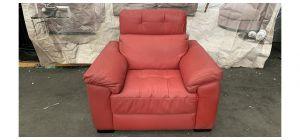 Sisi Italia Semi Aniline Leather Armchair Adjustable headrest Red 46502