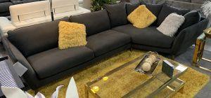 Stella Fabric Corner Sofa RHF Graphite Grey