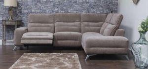 Sorrento Fabric Corner Sofa RHF Coffee Adjustable Headrests