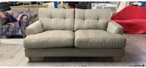 Fabric Sofa 2 Seater Beige Ex-Display Showroom Model Ex-Brighthouse Stock 46537