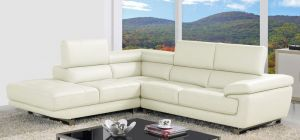 Valencia Ivory White Corner Sofa Left Hand Facing Delivery in 12 Weeks