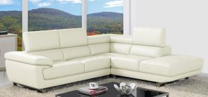 Valencia Ivory White Corner Sofa Right Hand Facing Delivery in 12 Weeks