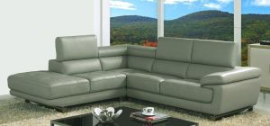 Valencia Taupe Grey Leather Corner Sofa Left Hand Facing Delivery in 12 Weeks