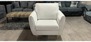 Fabric Armchair 1 Seater White Ex-Display Showroom Model Ex-Brighthouse Stock 46533