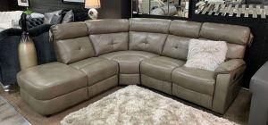 Xenia Leathaire Corner Sofa LHF Biege Showroom Model 6149