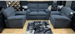 Sophia Grey Fabric 2 + 1 + 1 Sofa Set Ex-Display Showroom Model 47674