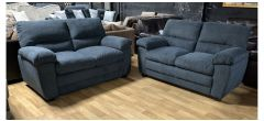 Sophia Dark Grey Fabric 2 + 2 Sofa Set Ex-Display Showroom Model 47681