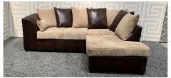 Dylan Brown RHF Fabric Corner Sofa With Scatter Back Ex-Display Showroom Model 47859