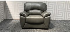 Texas Grey Leathaire Loveseat Armchair Ex-Display Showroom Model 47871