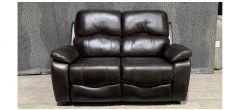 Divinci Brown Static Leathaire Regular Sofa Ex-Display Showroom Model 48386