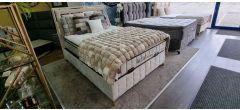 Bed Frame Double 4FT6 Wool Touch With Ottoman Storage