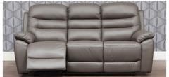 Romano Grey Bonded Leather 3 + 2 Sofa Set Manual Recliner Ex-Display Showroom Model 47111