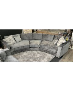 Arch Grey Grand Curve Fabric Corner Sofa