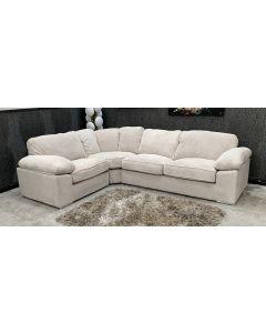 Cream Fabric Corner Sofa LHF Ex-Display Showroom Model 46794