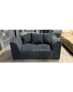 Dylan Fabric Sofa 2 Seater Blue Damaged Ex-Display Showroom Model