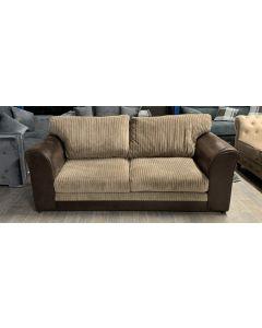 Malvern Fabric Sofa 3 Seater Brown and Beige Ex-Display Showroom Model