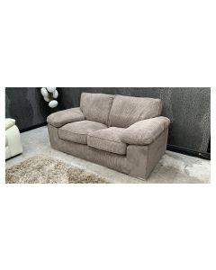 2 Seater Brown Fabric Sofa Ex-Display Showroom Model 46795